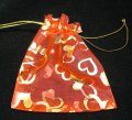 Organza Pouch Printed - Heart Red (M)