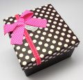 Gift Box 3 in 1 - Square  (Pink Polka)
